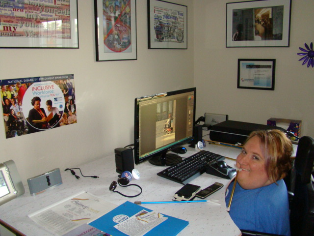 Marilee in her Office