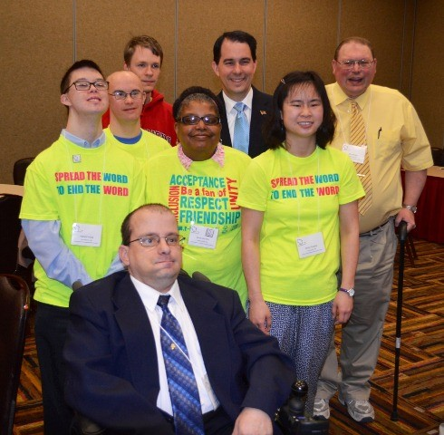 Governor Walker and the Employment First Ambassadors at the 2014 Conference